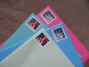 stamps on letters