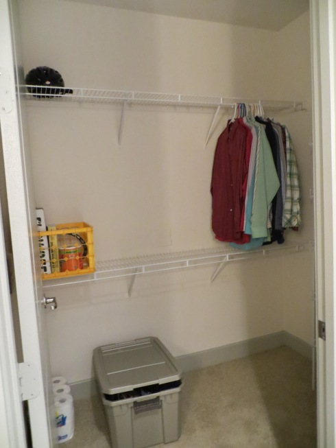 It's a shame to waste a great closet on a person with not a lot of clothes.