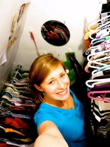 Awk selfie in my closet.